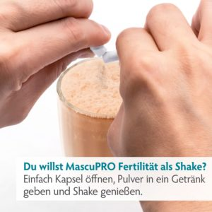 Nährstoffmischung für den Mann für eine größere Fruchtbarkeit mit Zink, Selen, L-Carnitin und L-Arginin