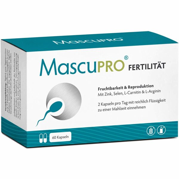 Kinderwunsch beim Mann Nährstoffmischung für den Mann für eine größere Fruchtbarkeit mit Zink, Selen, L-Carnitin und L-Arginin