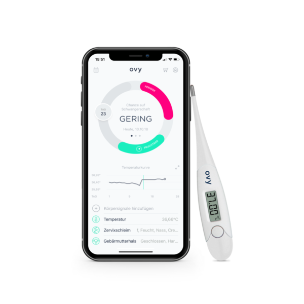 Ovy App mit Basalthermometer