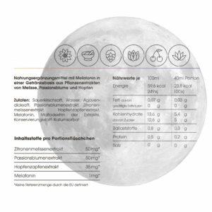 Schlafdrink um besser einschlafen zu können ausschließlich natürliche Zutaten