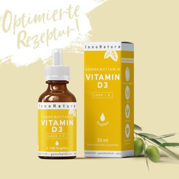 Sonnenvitamin Vitamin D3 in Tropfenform