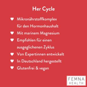 Femna Nahrungsergänzung Zyklus Ausgleichen CUCA